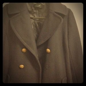 Navy J. crew wool coat