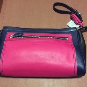 NWT COACH | Purple Legacy Colorblock Large Clutch