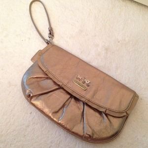 Coach Metallic Leather Clutch