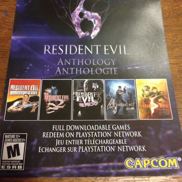 Resident evil 4 and 5 ps3 redeemable game codes