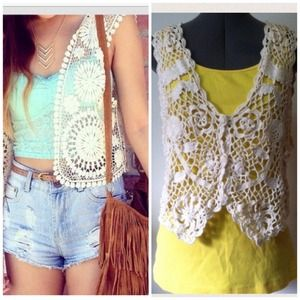 Exclusive Imports Crocheted Top