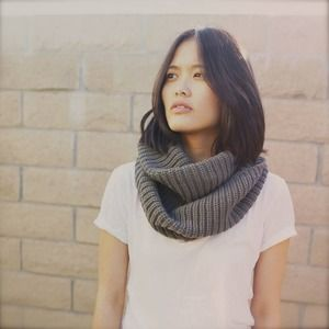 Dark grey infinity scarf (20% off)