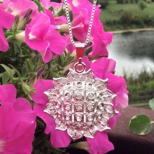 Jewelry - 🌻Sunflower Hollow Pendant on 925 Silver Chain🌻