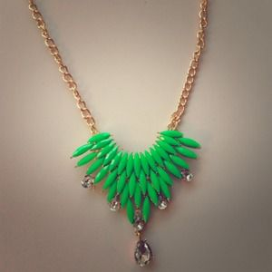 Neon green statement necklace