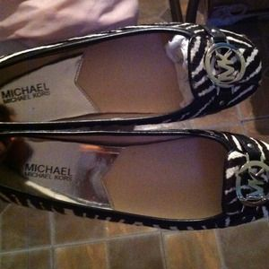 Michael kors flats autheric woman 9 real fur