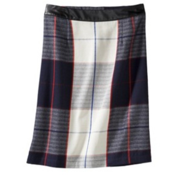 Merona Dresses & Skirts - New Blue & White Plaid Skirt 2
