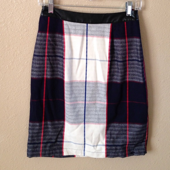 Merona Dresses & Skirts - New Blue & White Plaid Skirt 3