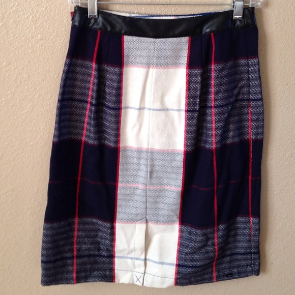 Merona Skirts - New Blue & White Plaid Skirt