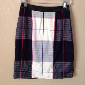 Merona Skirts - New Blue & White Plaid Skirt 3