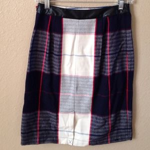Merona Skirts - New Blue & White Plaid Skirt 4
