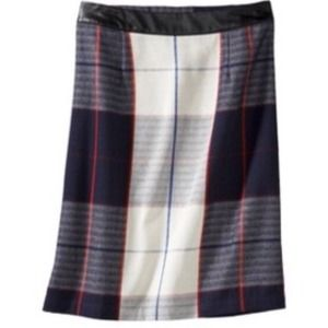 Merona Skirts - New Blue & White Plaid Skirt 2