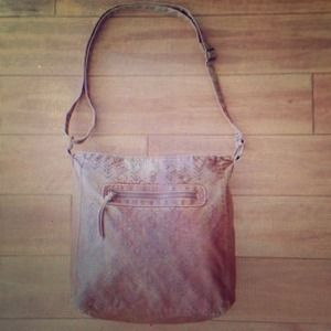 Brown Aztec Tribal Boho Cross Body Hobo Purse Bag
