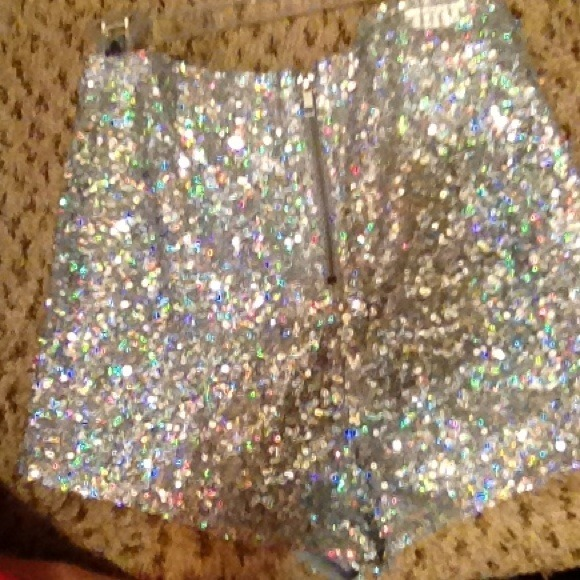 43% off Charlotte Russe Pants - High waisted sequin shorts from ...