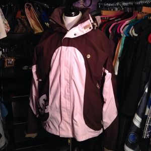 DC Pink and brown ultimate snowboarding jacket