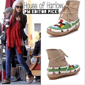 House of Harlow 1960 Boots - NWT House of Harlow Moccasin Booties