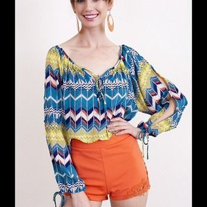 New open sleeve peasant blouse