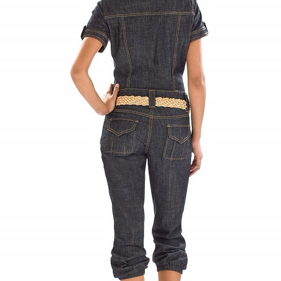 74% off Baby Phat Denim - Baby phat denim jean Capri jumpsuit ...