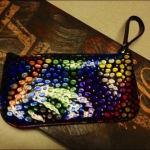 Pretty!! Nwts Large Colorful Wristlet