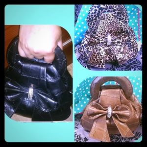 "Handbags - Mini handbag/clutch 7"" animal print"