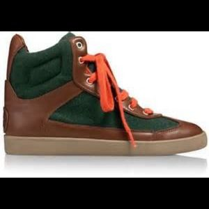 Brand New Tory Burch Evelin Hightop sneakers