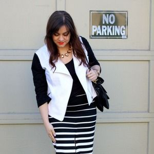 Black & White Motor Jacket