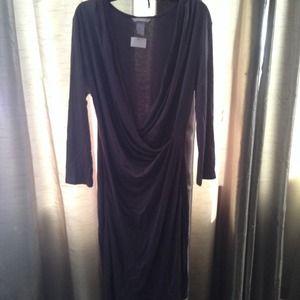 Gray faux Vneck dress