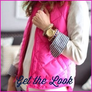 🎉Sale!today only🎉Get the look!Pink puffy vest XS