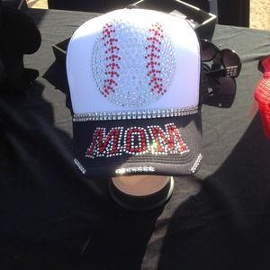 Trucker style baseball mom hat