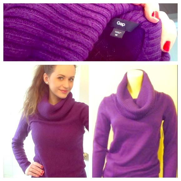70% off GAP Sweaters - 💕Comfy GAP purple cowl neck sweater ...