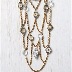 Thea Grant One of a kind Antique Watch Necklace.