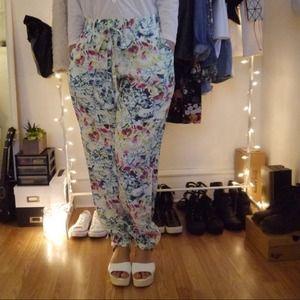 Pants - Tropical drawstring Jogger Pants