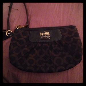 "Authentic Coach ""Madison"" clutch wristlet"