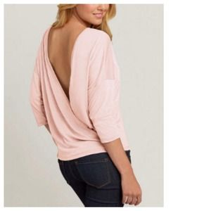 Tops - NEW Chic 3/4 Sleeve Top + Sexy V-Wrap Back