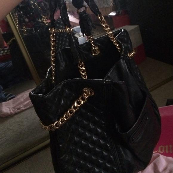 70% off Juicy Couture Handbags - Big Black leather purse juicy ...