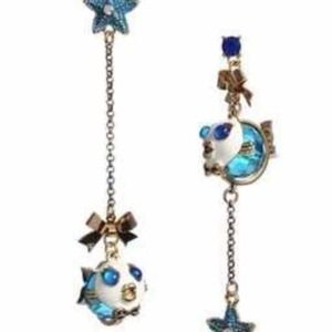 BUNDLED Betsey Johnson Under The Sea Fish Earrings
