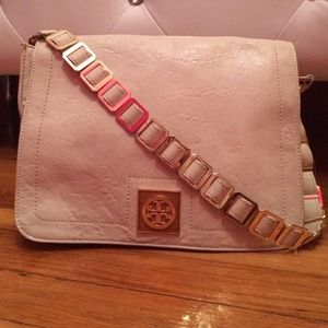 HP AUTH Tory Burch white Louiisa Shoulder bag