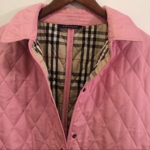 Women's Pink Burberry Quilted Jacket on Poshmark