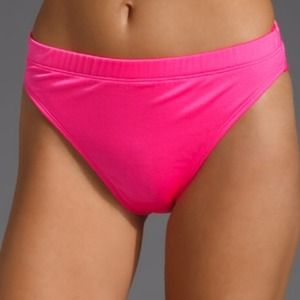 Wildfox couture bikini bottoms neon pink swimsuit