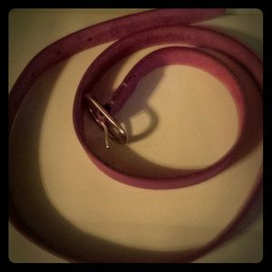 J Crew fuschia pink leather belt. BRAND NEW