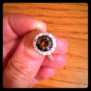 Sparkle cubic zirconia diamond ring SZ 7