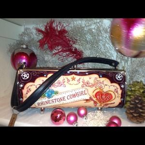 Handbags - Little Earth Swarovski embedded constructed purse!