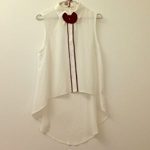 Millau button up blouse with a bow :)