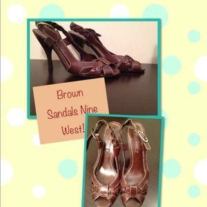 Chocolate Nine West Shoes Size 7.5