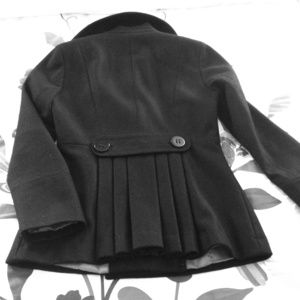 Black Calvin Klein Trench Coat