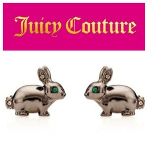 Bunny Earrings with emerald eyes