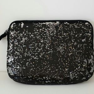 Juicy Couture Accessories - Juicy Couture Sequin Laptop Sleeve Black