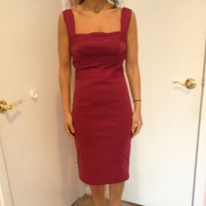 Robert Rodriguez burgundy dress