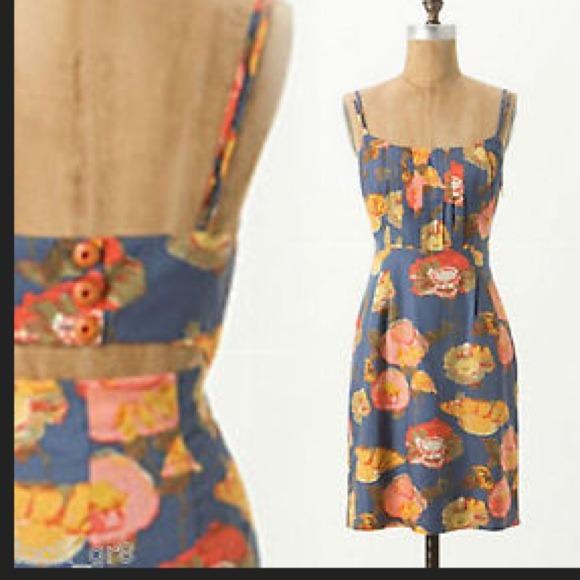 b2a4e58db9940 Anthropologie Dresses & Skirts - NWOT Anthropologie Maeve Peony Slip Dress