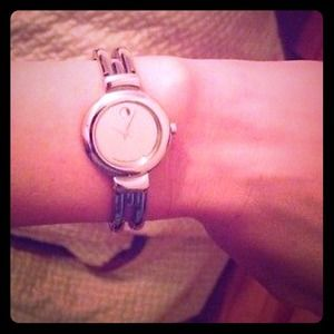 MOVADO HARMONY mirror dial bangle watch