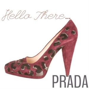 Prada Shoes - Authentic Prada Leopard Suede Heels